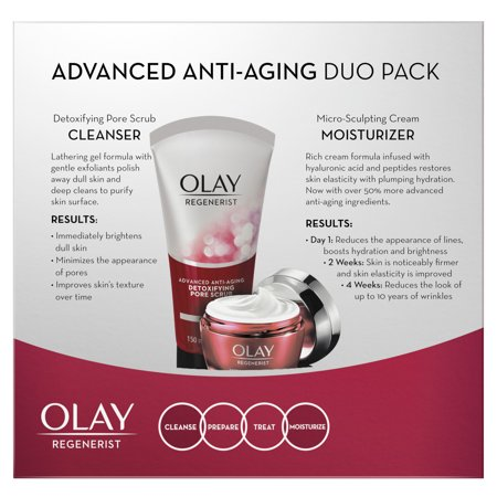 Best Olay Regenerist Advanced Anti-Aging Cleanser and Moisturizer Duo Pack deal