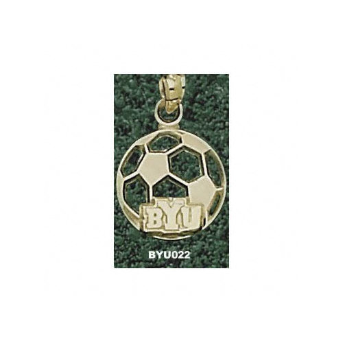 NCAA - BYU Cougars 10K Gold ''BYU'' Soccerball Pendant
