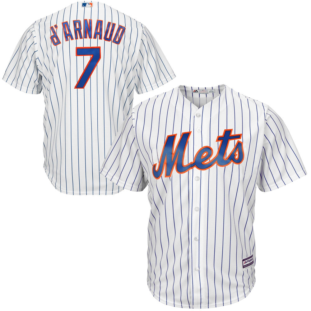 Men's New York Mets Travis D'Arnaud White Home Cool Base Player Jersey by