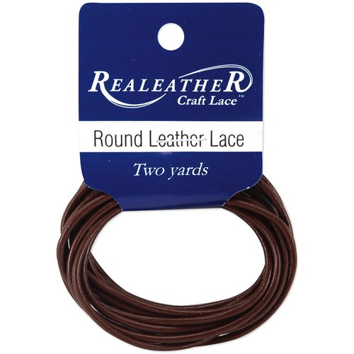 Round Leather Lace, 1mm, Carded, 2 yd