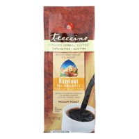 Teeccino Chicory Herbal Coffee Alternative, Hazelnut 75% Organic, 11 Oz, Pack of 6