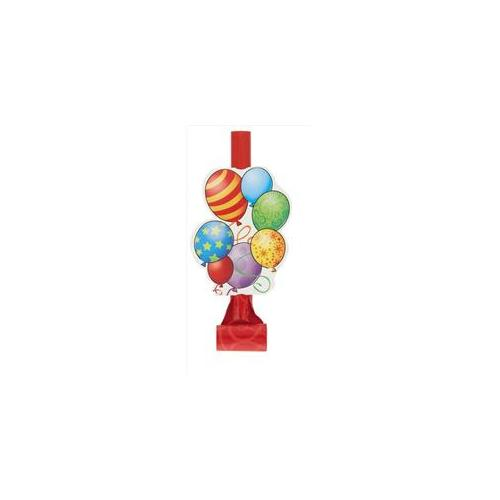 Unique Industries 23612 8 Count Birthday Balloons Party Blowers Pack of 12