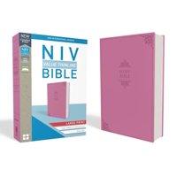 NIV, Value Thinline Bible, Large Print, Imitation Leather, Pink