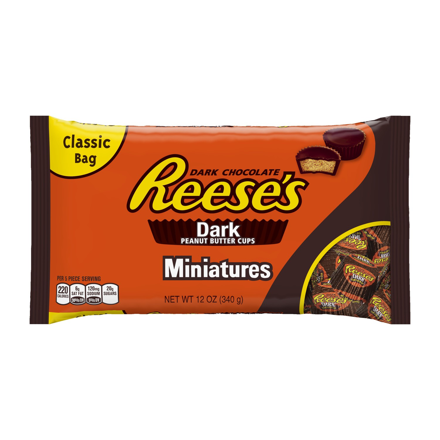 Reese's Dark Chocolate Peanut Butter Cup Miniatures, 12 Oz (Pack of 3)