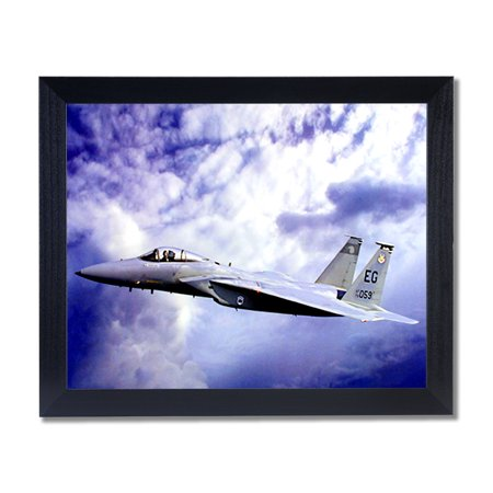 F15 Eagle Jet Fighter Airplane Wall Picture Black Framed Art Print