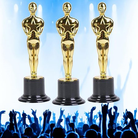 Millennial Participation Gold Trophy 3pk #1 WINNER! Ceremony Party Favor - All Star Trophy