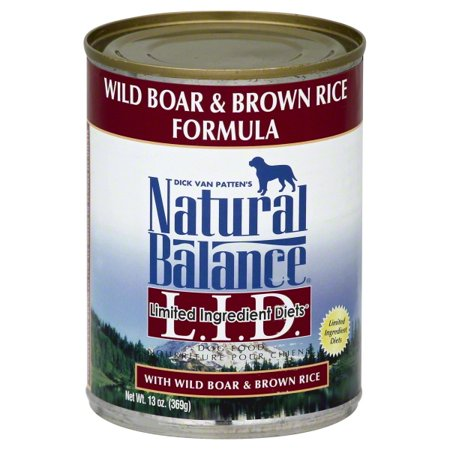 Fish Dog Canned Formula - Natural Balance L.I.D. Limited Ingredient Diets Wild Boar & Brown Rice Canned Dog Formula