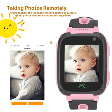 Positioning Smartwatch,Ymiko Children Positioning Smartwatch Touch Alarm Clock Camera Phone Flashlight Watch](Click Camera)