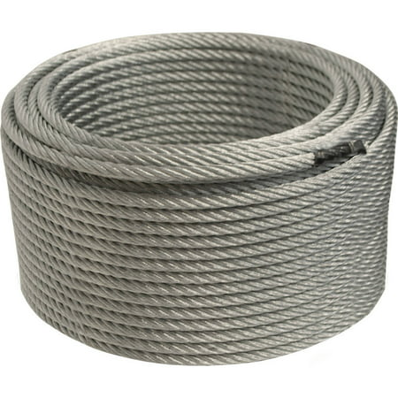 """ALEKO WR1/4G7X19F250 1/4"""" 7X19 Galvanized Aircraft Steel Wire Cable, 250'"""