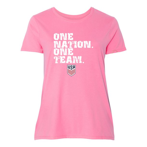 One Team One Nation 2 Plus Size Womens  Graphic Tees