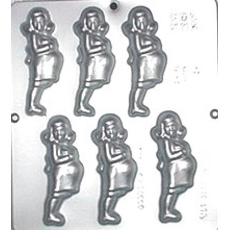 605 Woman Expecting Chocolate Candy - Baby Shower Candy Molds
