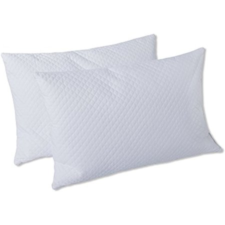 Luxury Goose Feather (DREAM ART Luxury White Goose Feather & Down Pillows,Extra Filling Super Soft Anti-Odor Hypoallergenic, Anti Dust Mite,Washable 2 Pack,Hotel Quality Standard Size 20X26 Inch(50x66cm) )