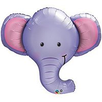 One XL BABY BOY PURPLE ELEPHANT BABY SHOWER Balloons Decorations Supplies by Qualatex