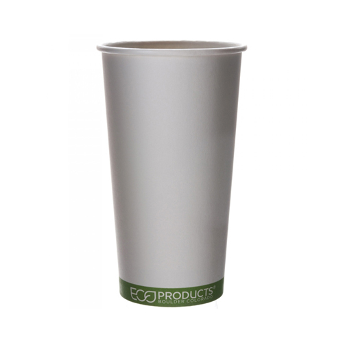 Eco-Products, Inc 20 Oz Compostable Hot Cup with Green-Stripe Design (Set of 1000)