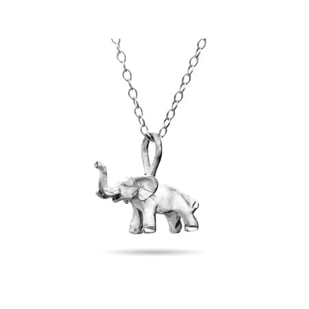 Petite Elephant Sterling Silver Necklace - Clearance Final Sale