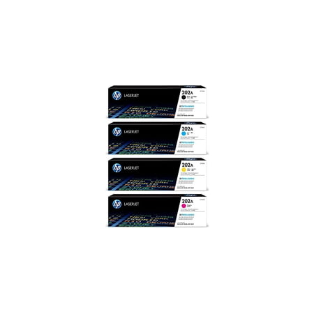 Hp 202A Black/ Cyan/ Magenta/ Yellow Original LaserJet Toner Cartridge Set (BND00541) (Hp Laserjet Magenta Toner)