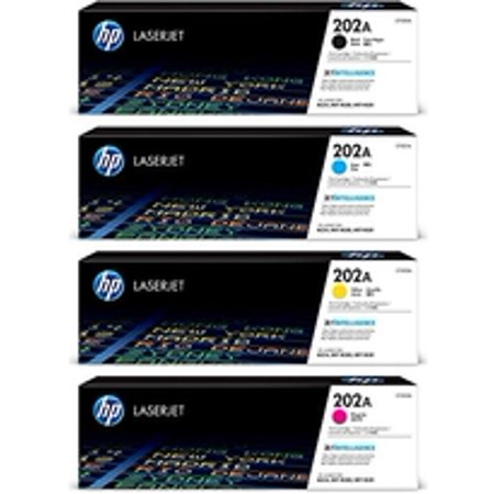 Hp 202A Black/ Cyan/ Magenta/ Yellow Original LaserJet Toner Cartridge Set (BND00541) (Hp Cc532a Yellow Toner)