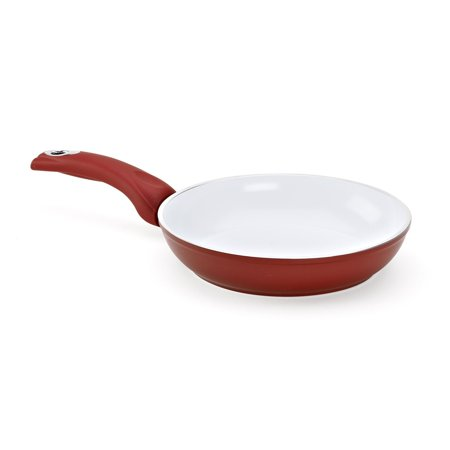 Aeternum Red 7190 Fry Pan, 8-inch, White nano-ceramic nonstick coating..., By Bialetti Ship from US (White Nano Ceramic)