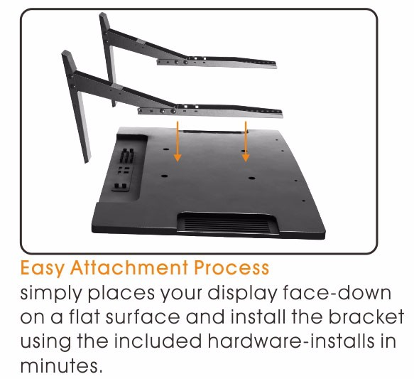 """17-42/""""  Tabletop TV Pedestal Stand Up//Down PC Monitor Holder Home Office Display"""