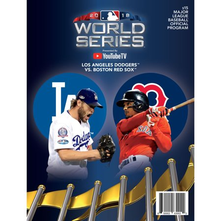 Boston Red Sox vs. Los Angeles Dodgers 2018 World Series Matchup Program - No (Cost Of Living In Denver Vs Los Angeles)