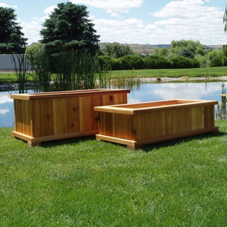 Wood Country Rectangle Cedar Wood Boise Patio Planter (Best Wood For Planter Boxes)