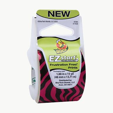 Duck Brand Printed EZ Start Packaging Tape: 1.88 in. x 15 yds. (Pink Zebra)