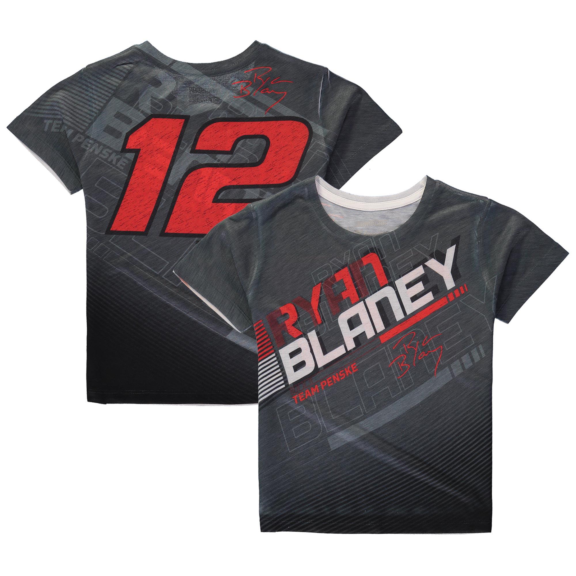Ryan Blaney Fanatics Branded Youth Asphalt Sublimated T-Shirt - Charcoal