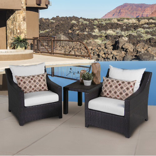 RST Brands  Deco Club Chairs and Side Table  Outdoor Furniture  Deco  Furniture  Outdoor Bistro Sets  ;Moroccan Cream with Sunbrella