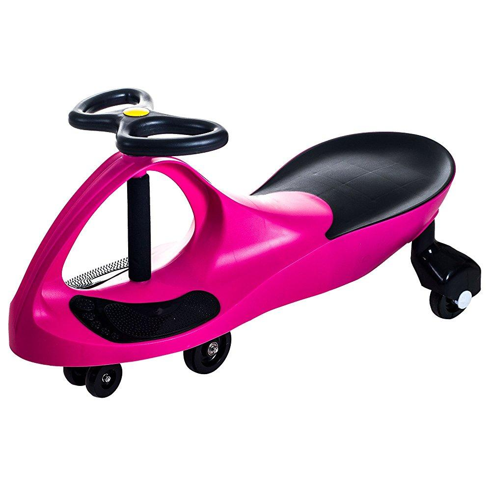 Ride on Toy Wiggle Car by Lil' Rider – Ride on Toys for Boys and Girls, 2 year old and up, (Hot Pink)