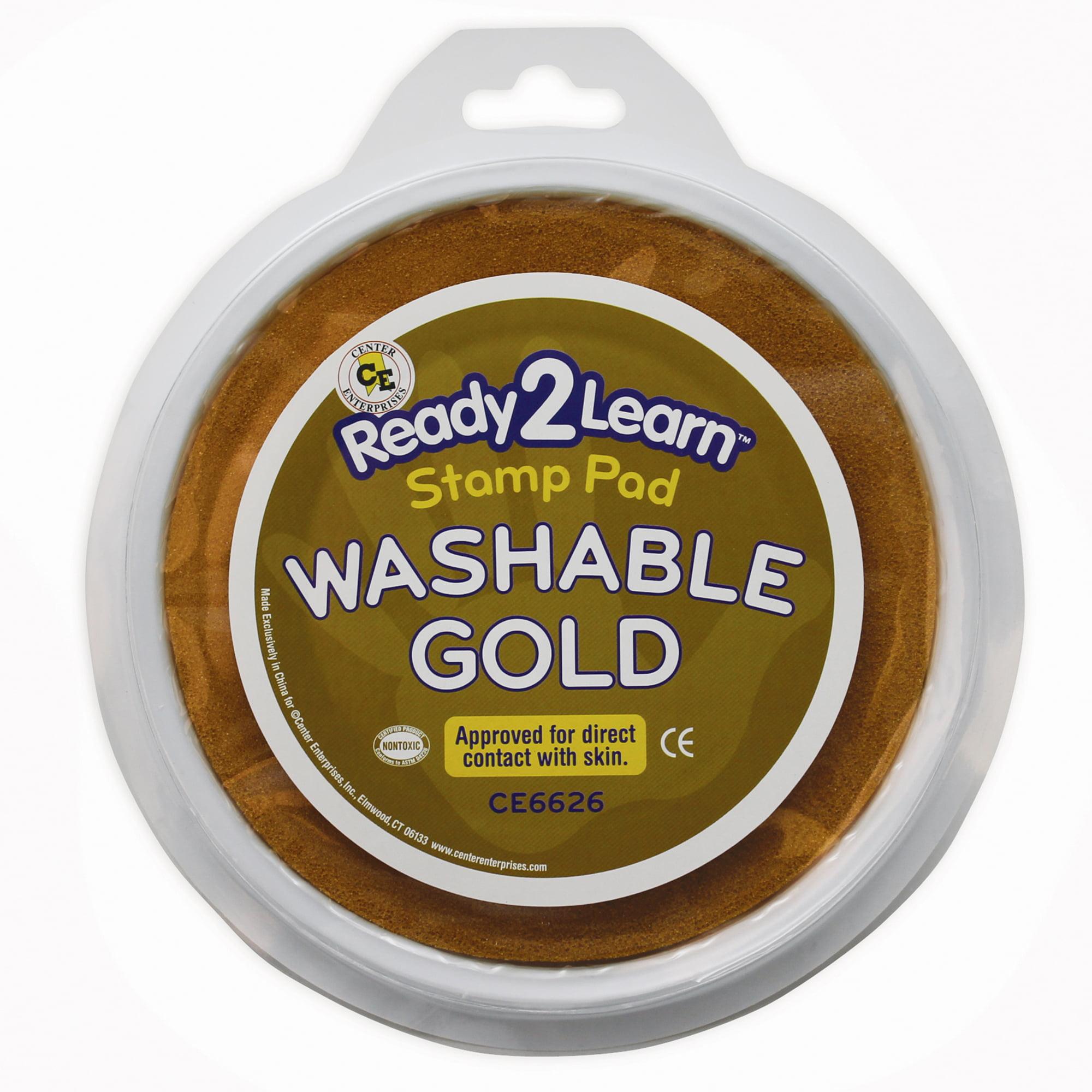 Jumbo Circular Washable Paint/Ink Pad, Gold, Set of 6