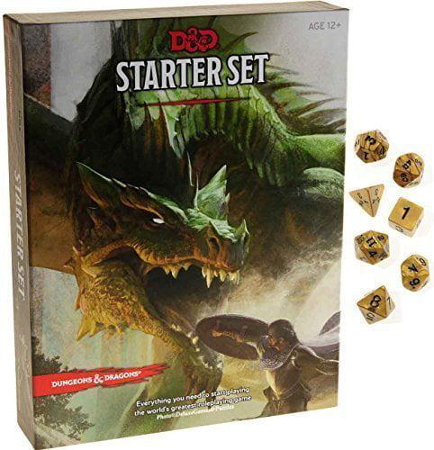 Dungeons & Dragons Starter Set _ with Bonus Gold Swirl 7-dice Set _ D&D Starter Set - image 1 of 1