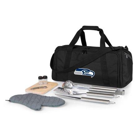 Seattle Seahawks BBQ Kit Cooler - Black - No Size