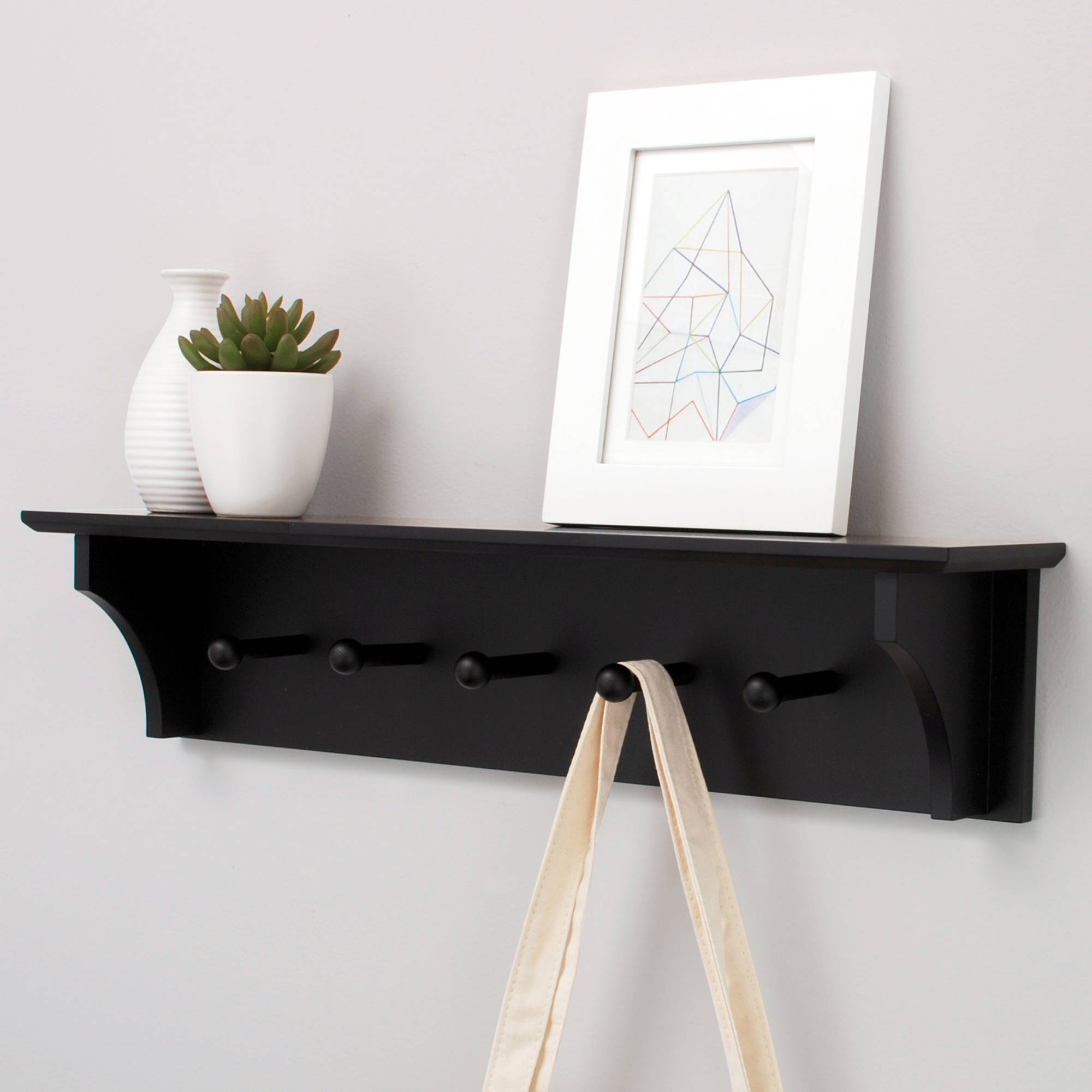 foster 24 wall shelf with 5 pegs walmart com rh walmart com white wall shelves with pegs white wall shelf with pegs