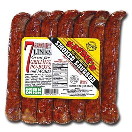 Savoie's Green Onion Smoked Sausage, 28 Oz. - Walmart.com