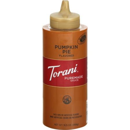 Torani Pumpkin Pie Flavored Sauce, 16.5 Oz.