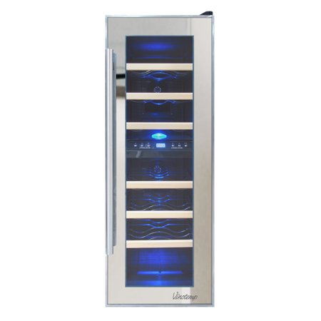 21-Bottle Dual-Zone Thermoelectric Mirrored Wine