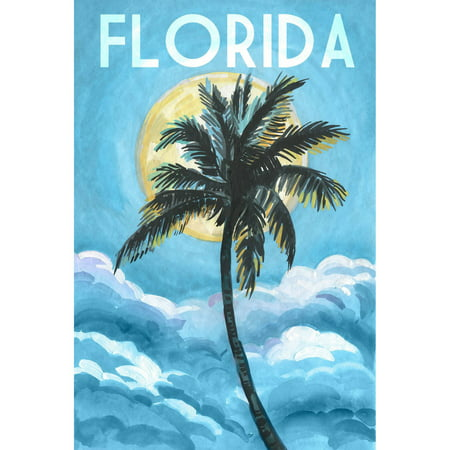 Blue Florida   Painting Print On Wrapped Canvas