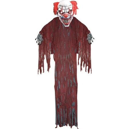 12' Hanging Clown Halloween Prop - Evil Clown Halloween Prop
