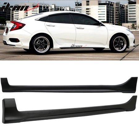 Fits 16-18 Honda Civic Sedan 4Dr AVS Style Side Skirts Splitter - PP