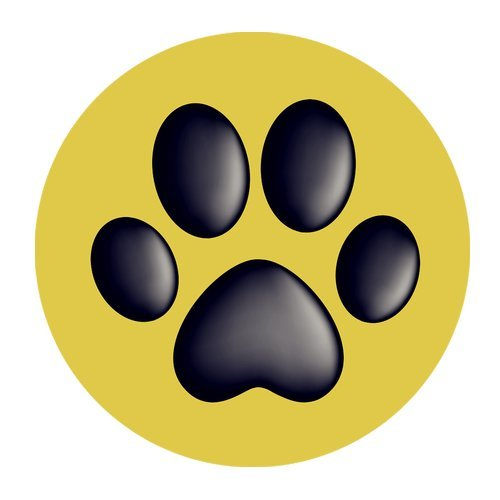 MKHERT Paw Prints Round Mousepad Mat For Mouse Mice Size 7.87x7.87 inches