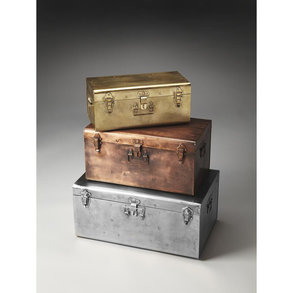 Offex Modern Rectangular Storage Trunk Set Moderate - Assorted