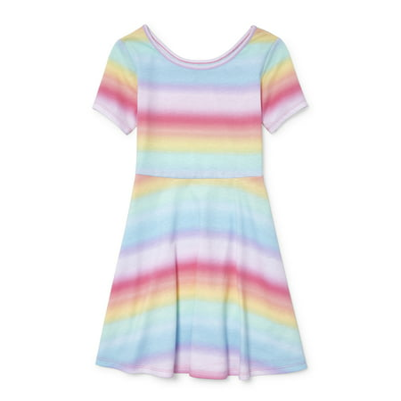 Short Sleeve Fit and Flare Jersey Dress (Little Girls & Big - Maxi Dress For Little Girls