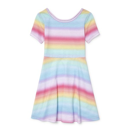 Short Sleeve Fit and Flare Jersey Dress (Little Girls & Big Girls)