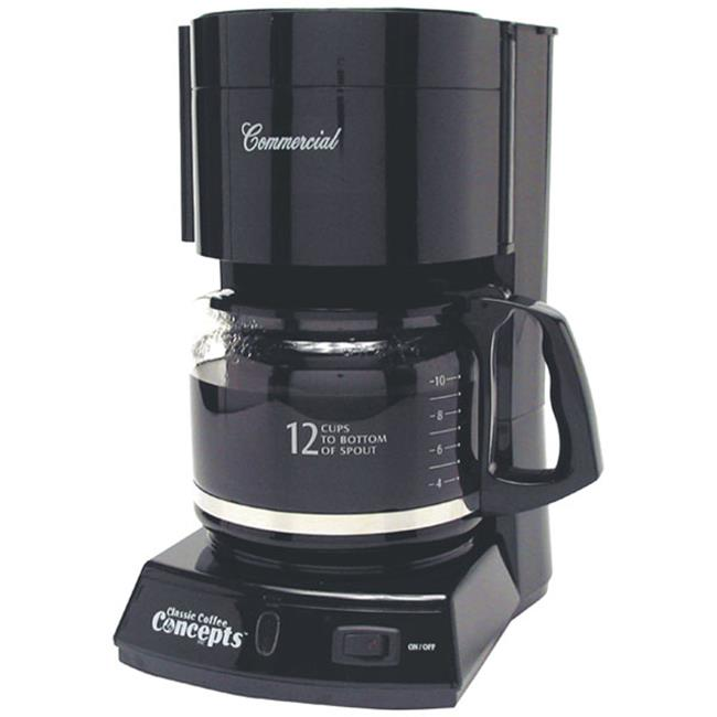 Classic Concepts CC123 Black Commercial Brewer, 10-12 Cup