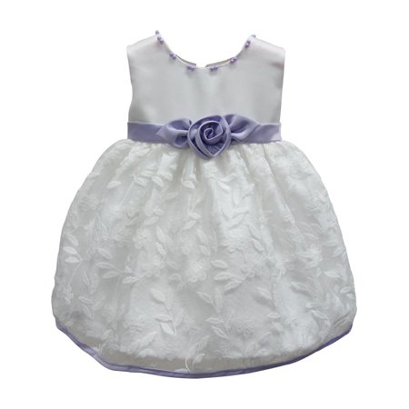 Baby girls white lilac floral embroidered bead flower girl dress 24m baby girls white lilac floral embroidered bead flower girl dress 24m mightylinksfo