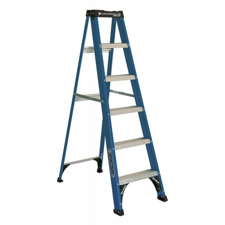 Louisville Ladder 6-Foot Fiberglass Step Ladder, 225-Pound Capacity, Type II,