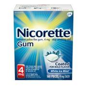 Nicorette Nicotine Gum to Stop Smoking, 4mg, White Ice Mint Flavor - 160 Count