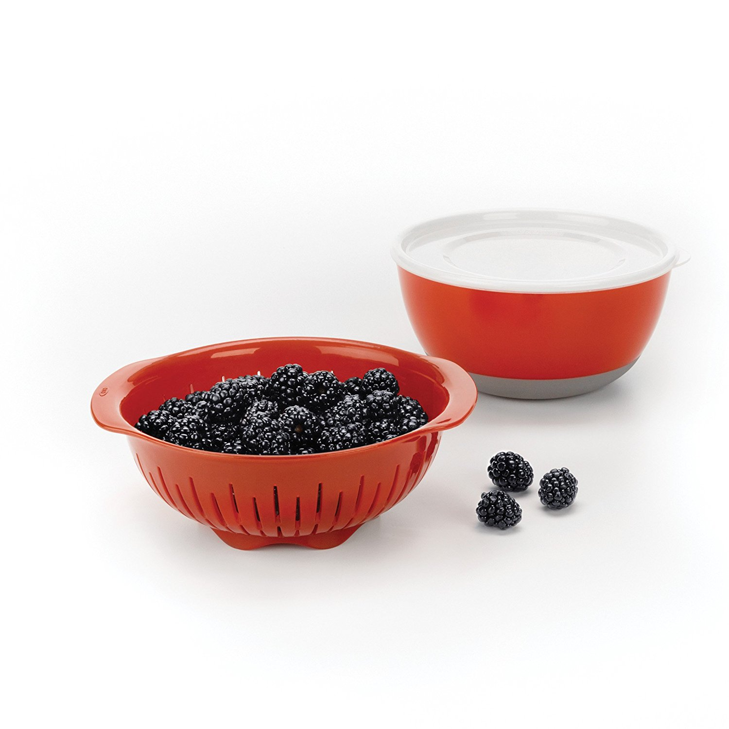 3 Piece Berry Washing Bowl, Colander, Ship from USA,Brand OXO Good Grips by