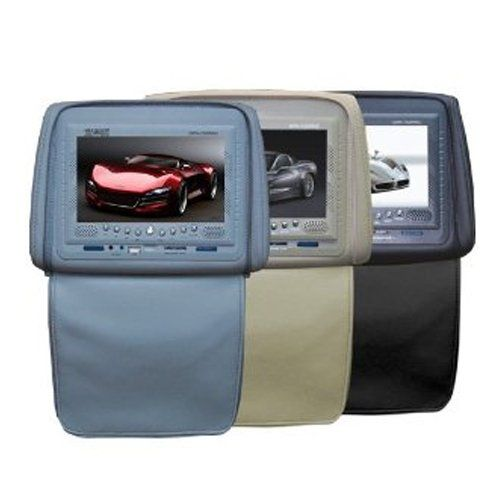 Absolute DPH750PKGC 7.5-Inch Headrest Monitor Package Cream One with Built-In DVD