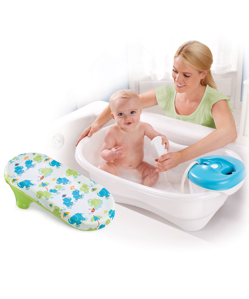 Newborn Infant Bath Tub Motorized Baby Shower Handle Bathing Seat ...
